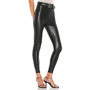 Lovers + Friends Brenda Black Leather Legging Sm